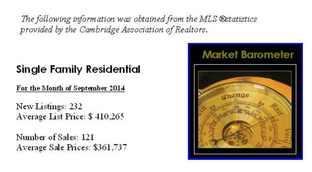 Cambridge market barometer September 2014
